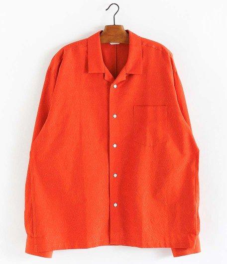 WELLDER Open Collar Shirt [ORANGE]