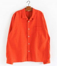 WELLDER Open Collar Shirt [ORANGE]