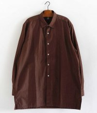 KAPTAIN SUNSHINE Regular Collar Shirts [BROWN CHAMBRAY]