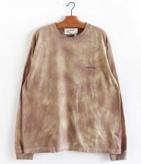 ANACHRONORM Pigment tie dye LS T-shirt [BEIGE]