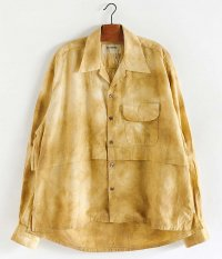ANACHRONORM RF Tie Dye L/S Resize Open Collar Shirt [YELLOW BEIGE]