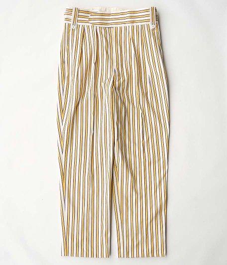 NEAT LAL Stripe Beltless [PURPLE × YELLOW]