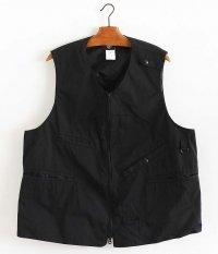 CORONA Sleeveless Fishing Jacket [ESTER GABARDINE / BLACK]