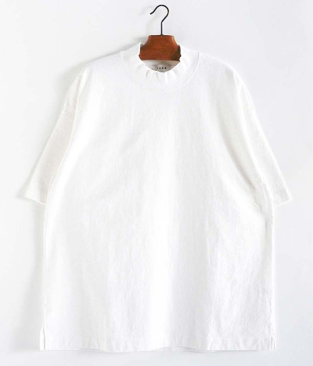tone Mock Neck SS Shirt [WHITE]