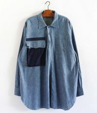 MOBTARIA Utility Pullover Shirt-CH/01 [INDIGO]