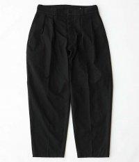 KAPTAIN SUNSHINE 2PleatsTapered Trousers [BLACK]