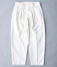 KAPTAIN SUNSHINE 2PleatsTapered Trousers [WHITE]