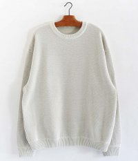crepuscule Moss Stitch Border L/S Sweat [WHITE]