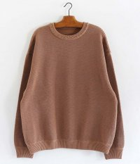 crepuscule Moss Stitch Border L/S Sweat [L.BROWN]
