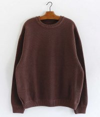 crepuscule Moss Stitch Border L/S Sweat [BROWN]