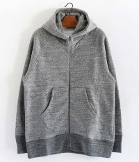 CURLY RAFFY ZIP PARKA [CHARCOAL]