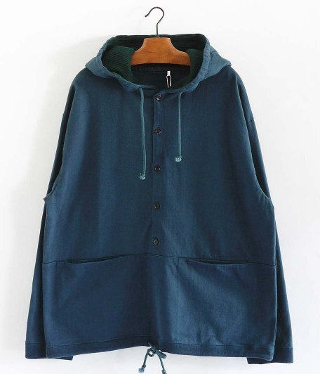 crepuscule Button P/O Hoodie [GREEN]
