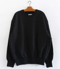 tone COTTON CREW NECK SWEAT [BLACK]