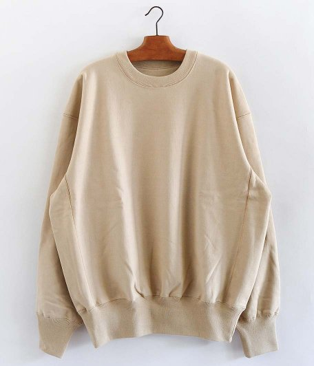 tone COTTON CREW NECK SWEAT [BEIGE]