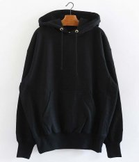 tone COTTON HOODED SWEAT [BLACK]