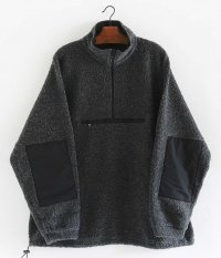 KAPTAIN SUNSHINE Cashmere Fleece Hightneck Pullover [CHARCOAL]