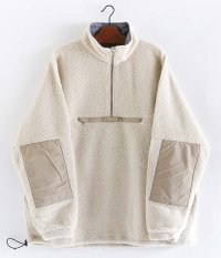 KAPTAIN SUNSHINE Cashmere Fleece Hightneck Pullover [LIGHT BEIGE]
