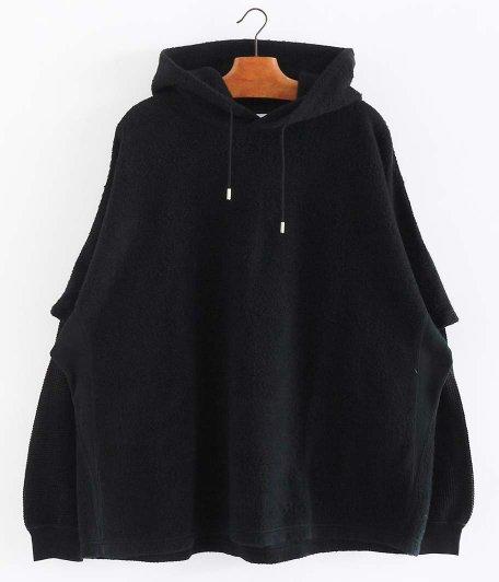 WELLDER Layered Sleeve Hooded [BLACK]