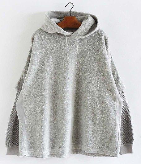 WELLDER Layered Sleeve Hooded [LIGHT GRAY]