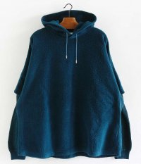 WELLDER Layered Sleeve Hooded [GREEN NAVY]