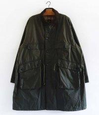 KAPTAIN SUNSHINE Stand Collar Traveller Coat [SAGE GREEN]