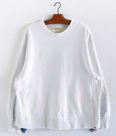 ANACHRONORM Crashed Sweatshirt [WHITE]