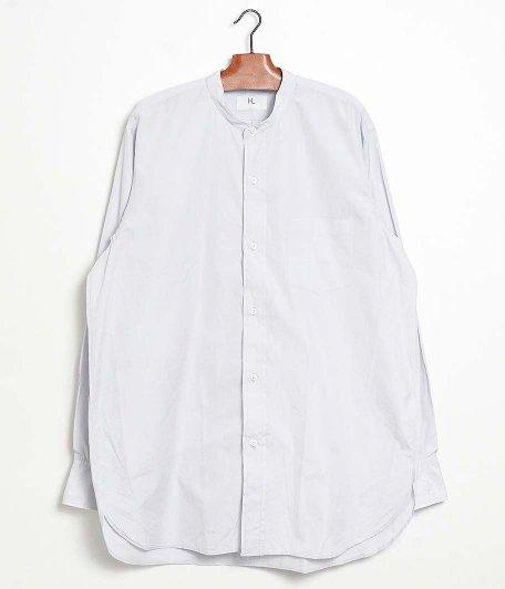 HERILL Suvin Stand Collar Shirt [LIGHT GRAY]