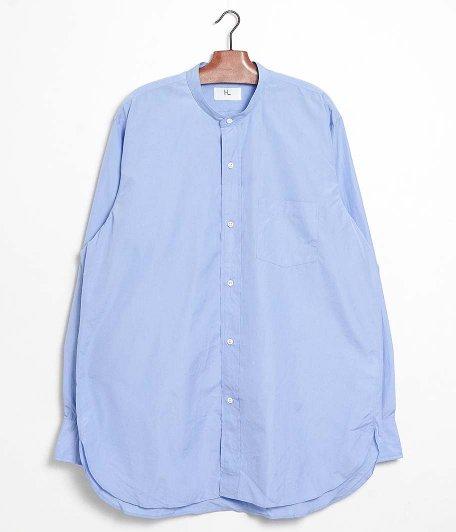 HERILL Suvin Stand Collar Shirt [SAX]