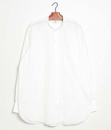 HERILL Suvin Stand Collar Shirt [WHITE]