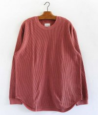 CURLY CLOUDY L/S TEE [SMOKE RED]