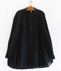 CCU STAND COLLAR SHIRT [BLACK]