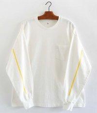 KAPTAIN SUNSHINE West Coast L/S Tee [WHITE × YELLOW LINE]