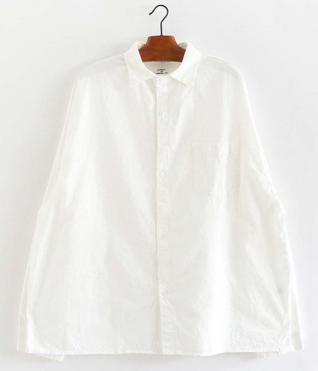 NECESSARY or UNNECESSARY SLOPING SHIRTS [WHITE]