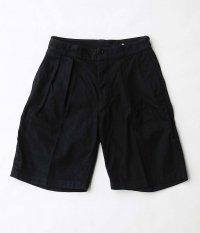 KAPTAIN SUNSHINE 2Pleats Wide Shorts [BLACK]