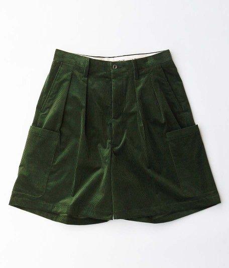 NEAT French Corduroy Cargo Shorts [GREEN]