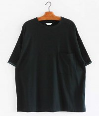 WELLDER Embroidery Half Sleeve T-Shirt [BLACK]