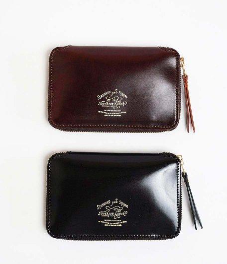 THE SUPERIOR LABOR Cordovan Zip Middle Wallet [BURGUNDY / BLACK]