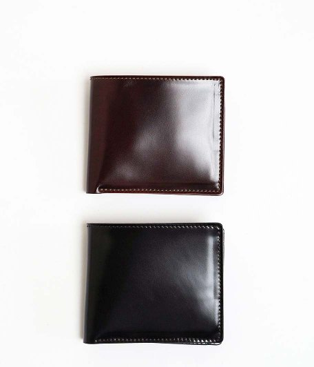 THE SUPERIOR LABOR Cordovan Wallet [BURGUNDY / BLACK]
