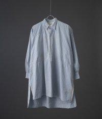 40's フレンチプルオーバーロングシャツ