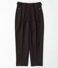 NEAT Wool Gabardine Beltless [BROWN]