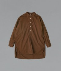 50's フレンチプルオーバーロングシャツ