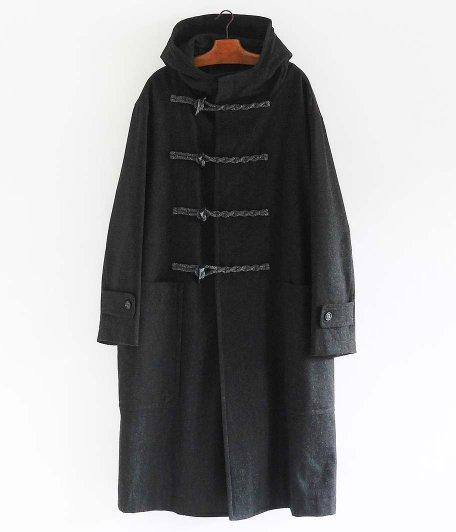 POLYPLOID DUFFLE COAT C [BLACK MELANGE]