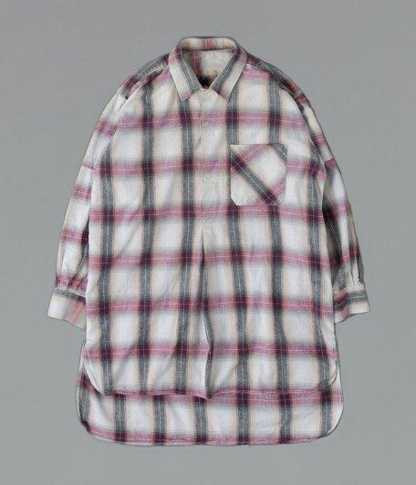 フレンチプルオーバーロングシャツ