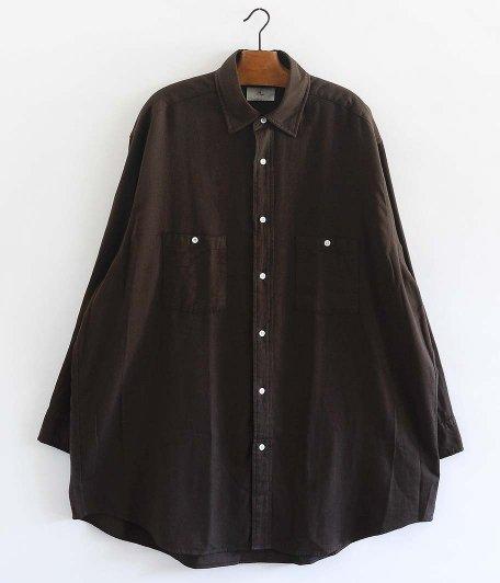HERILL Cotton Cashmere Brush Work Shirts [BROWN]