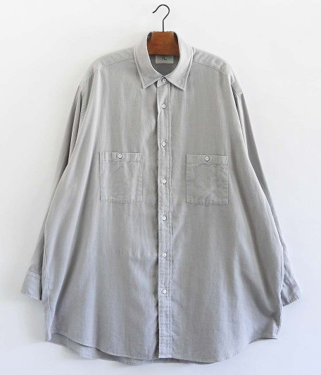 HERILL Cotton Cashmere Brush Work Shirts [GRAY]