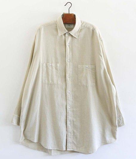 HERILL Cotton Cashmere Brush Work Shirts [BEIGE]