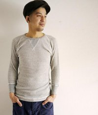 JIGSAW RAFFY COTTON WAFFLE 3/4 SLEEVE CREW NECK T-SHIRT