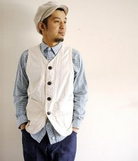 ANACHRONORM Clothing Cordlane Work Vest/OFF WHITE
