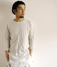 ANACHRONORM Clothing Rib 3/4 Sleeve T-shirt