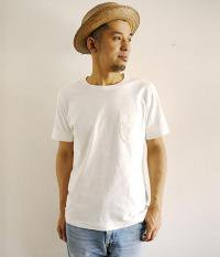 JIGSAW HEAVY WEIGHT RAFFY COTTON S/S WEATHERED POCKET T-SHIRT OFF WHITE